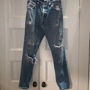 Re/Done size 26 distressed jeans